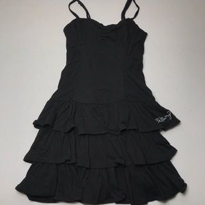 Billabong Black Tier Ruffle Adjustable Dress